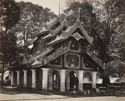 Temple of Shoay Dagon Pagoda platform, Rangoon